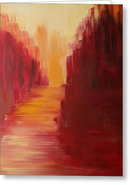 Red Photographs Paintings Greeting Cards - The Ruby Way Greeting Card by Julie Lueders