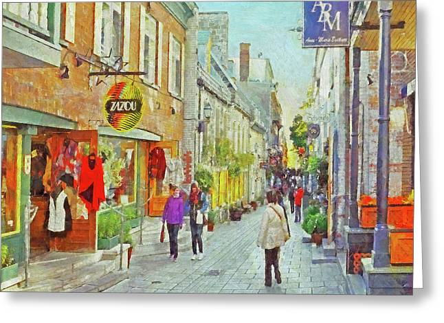 The Rue Du Petit Champlain In Quebec City Greeting Card