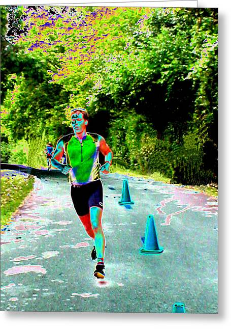 The Runner Greeting Card by Peter  McIntosh
