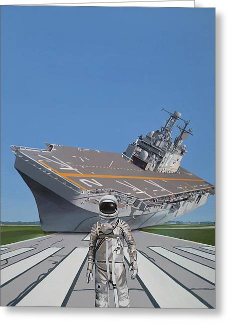 The Runway Greeting Card by Scott Listfield