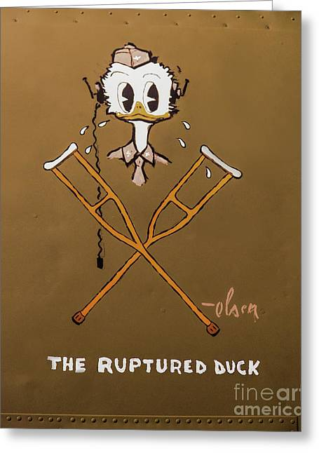 The Ruptured Duck Greeting Card