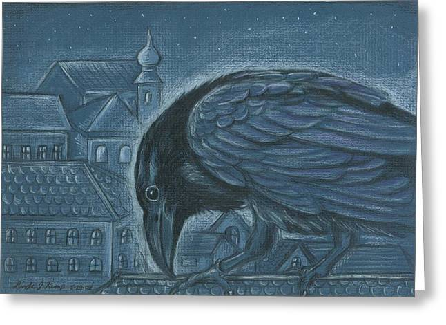 The Russian Raven Greeting Card