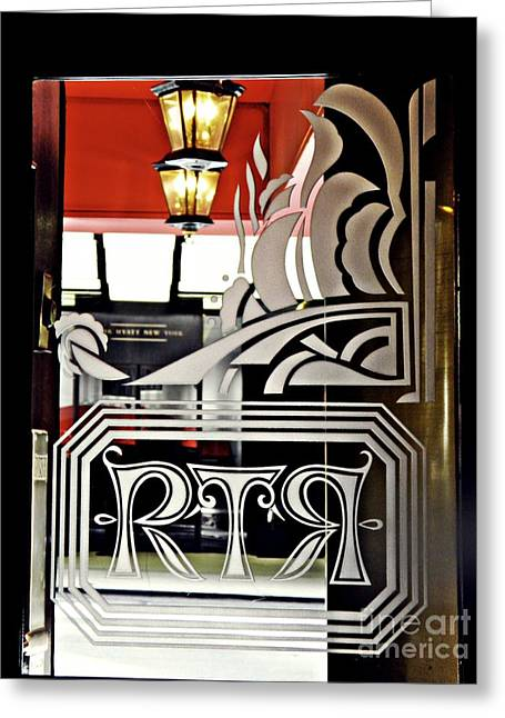 The Russian Tea Room Door Greeting Card