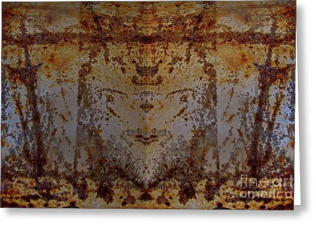 The Rusted Feline Greeting Card
