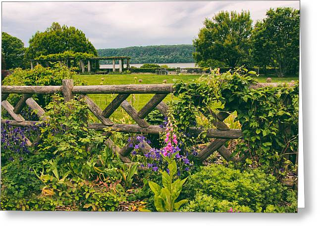 The Rustic Fence Greeting Card by Jessica Jenney