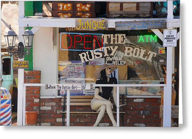The Rusty Bolt - Seligman, Historic Route 66 Greeting Card
