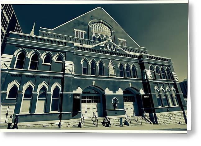 The Ryman Auditorium  Greeting Card by Dan Sproul