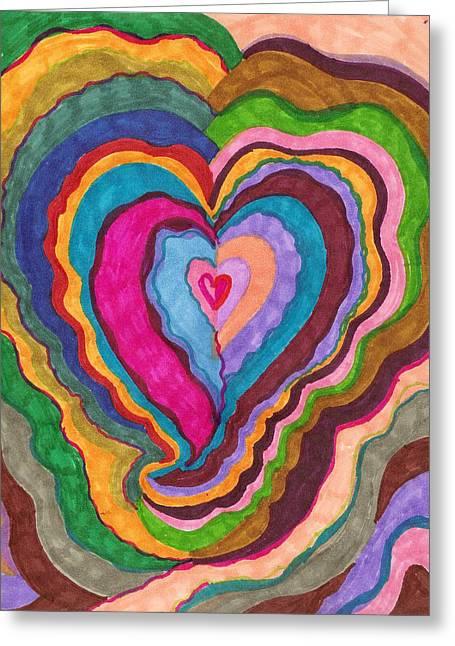 The Rythm Of Love Greeting Card by Brenda Adams