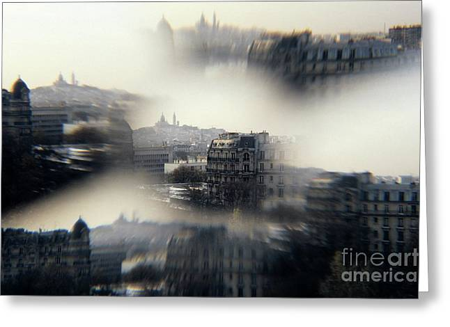 The Sacre-coeur Basilica On Montmartre Hill Greeting Card by Sami Sarkis