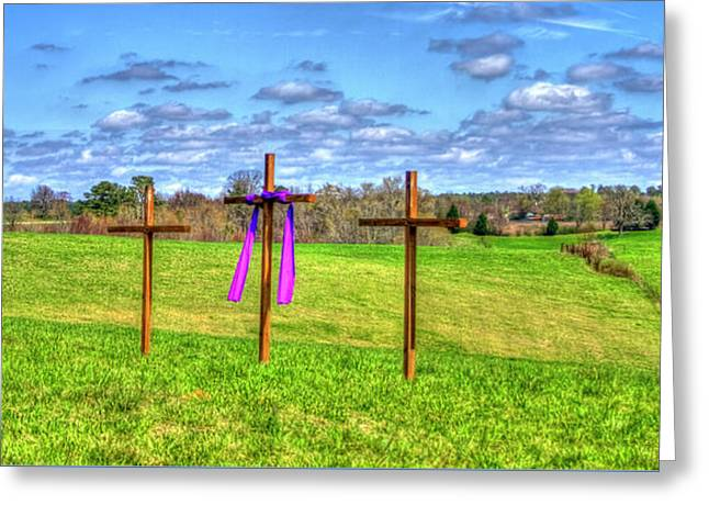 The Sacrifice Jesus Christ Remembered Christian Art Greeting Card by Reid Callaway