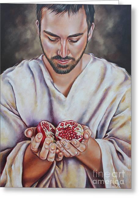 The Sacrifice Of Jesus Greeting Card by Ilse Kleyn