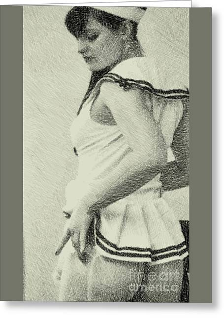 The Sailor By Mb Greeting Card