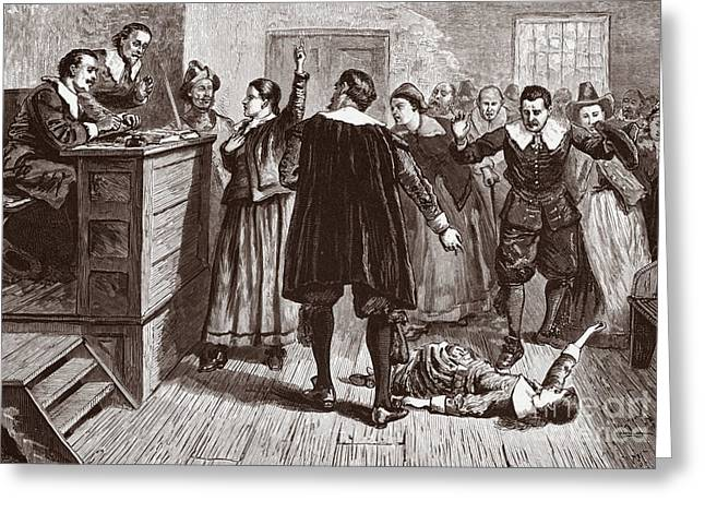 The Salem Witch Trials Greeting Card by American School