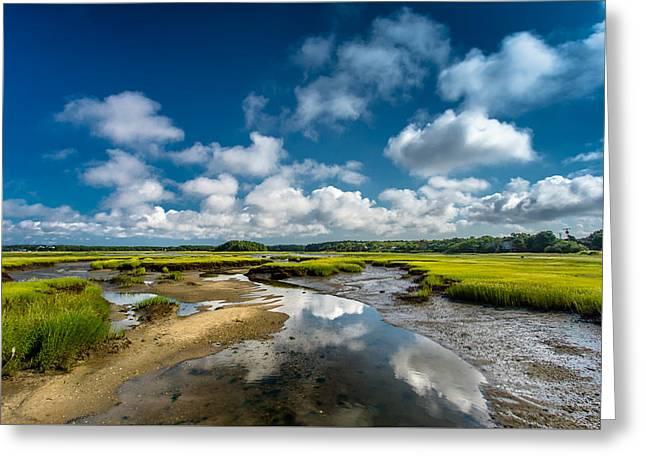 The Salt Marshes, Wellfleet Ma Greeting Card by Dapixara Art