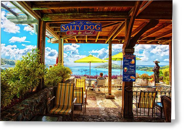 The Salty Dog Cafe St. Thomas Greeting Card