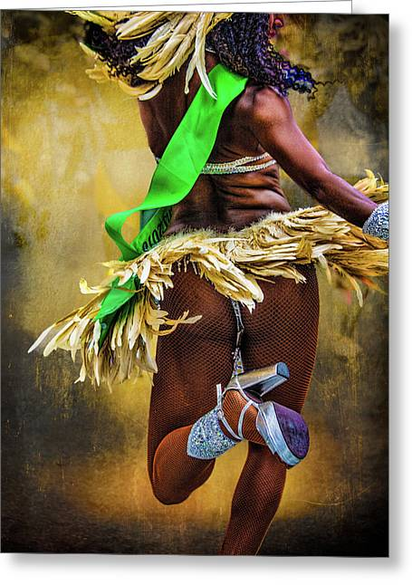 Greeting Card featuring the photograph The Samba Dancer by Chris Lord