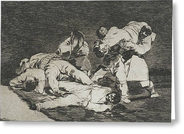 The Same From The Series Disasters Of War  Greeting Card by Francisco Goya
