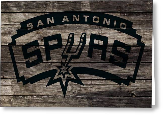 The San Antonio Spurs 1w Greeting Card by Brian Reaves