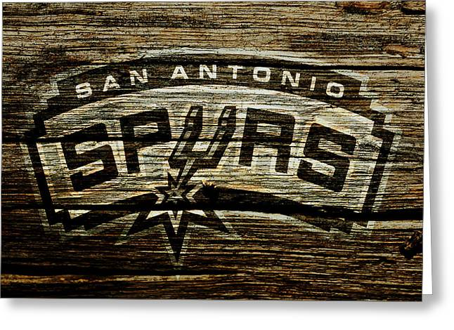 The San Antonio Spurs 2a Greeting Card by Brian Reaves