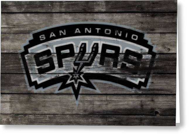 The San Antonio Spurs 3a Greeting Card by Brian Reaves