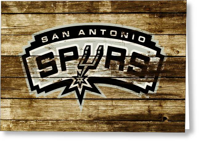 The San Antonio Spurs 3b Greeting Card by Brian Reaves