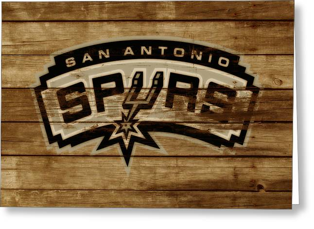 The San Antonio Spurs 3c Greeting Card by Brian Reaves