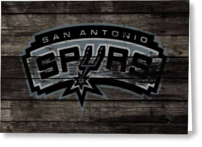 The San Antonio Spurs 3e Greeting Card by Brian Reaves