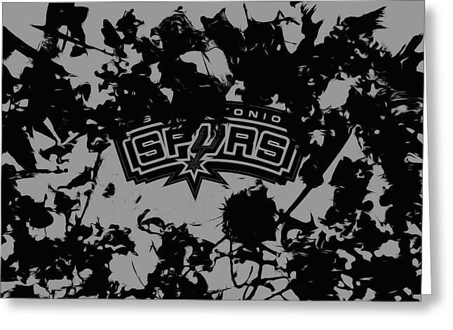 The San Antonio Spurs Greeting Card by Brian Reaves