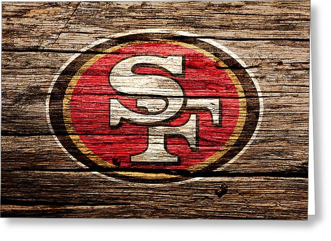 The San Francisco 49ers 2a Greeting Card by Brian Reaves