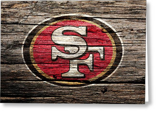 The San Francisco 49ers 2b Greeting Card by Brian Reaves