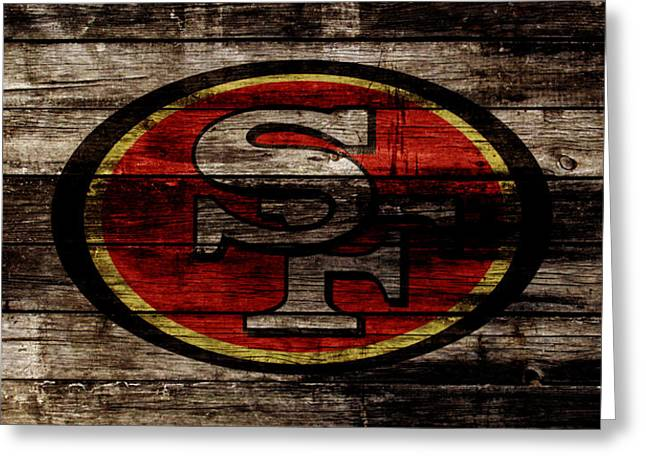 The San Francisco 49ers 2w Greeting Card by Brian Reaves