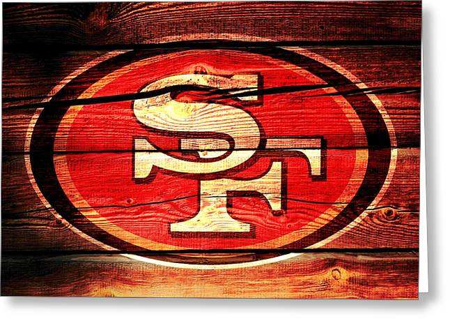 The San Francisco 49ers 3a Greeting Card by Brian Reaves