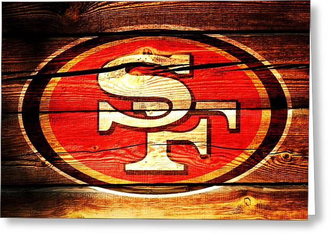 The San Francisco 49ers 3c Greeting Card by Brian Reaves
