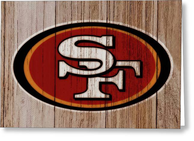 The San Francisco 49ers 4a   Greeting Card by Brian Reaves