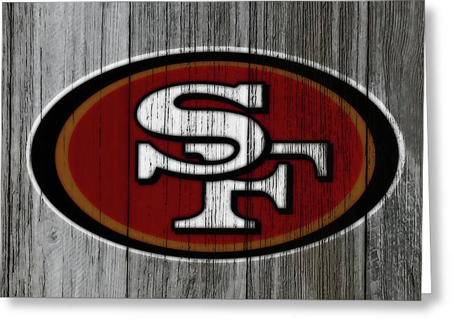 The San Francisco 49ers 4b Greeting Card by Brian Reaves