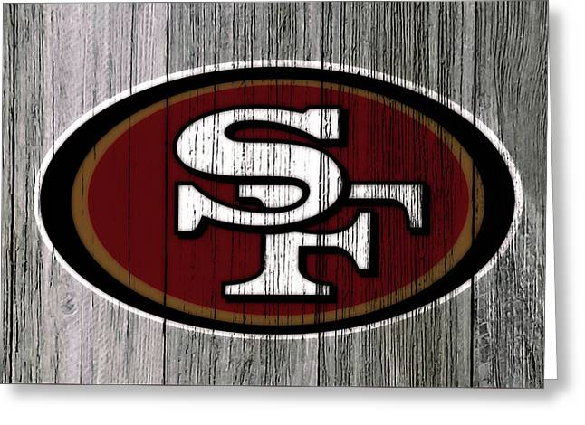The San Francisco 49ers 4c    Greeting Card by Brian Reaves