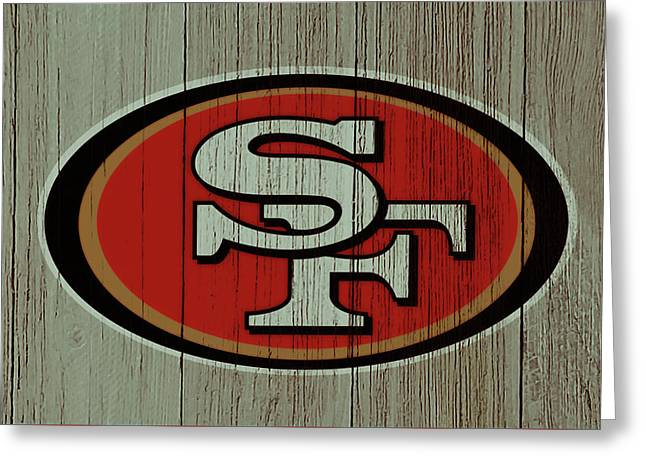The San Francisco 49ers 4d    Greeting Card by Brian Reaves