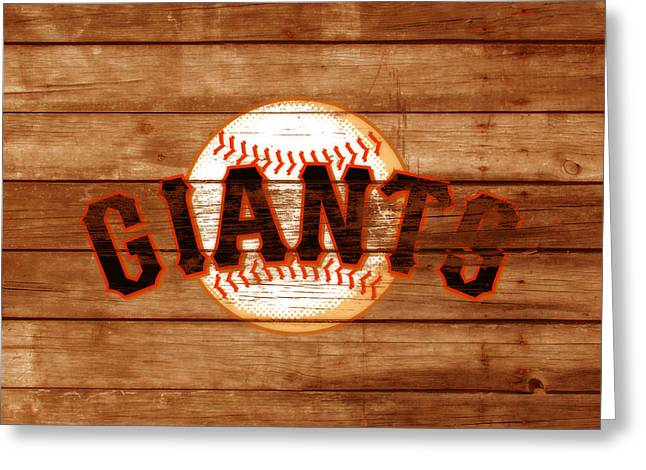 The San Francisco Giants 3a Greeting Card by Brian Reaves