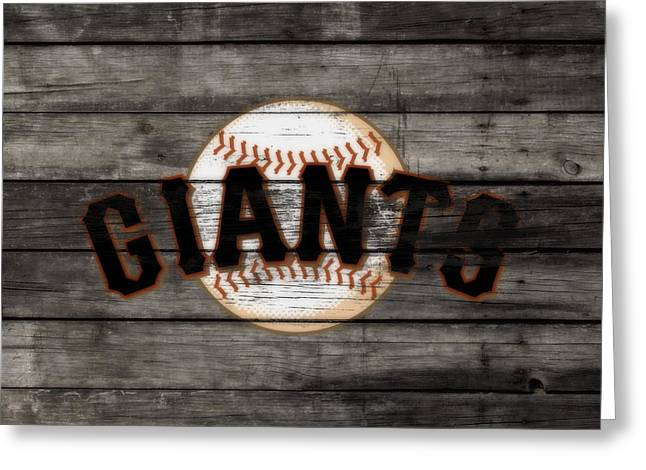 The San Francisco Giants 3b   Greeting Card by Brian Reaves