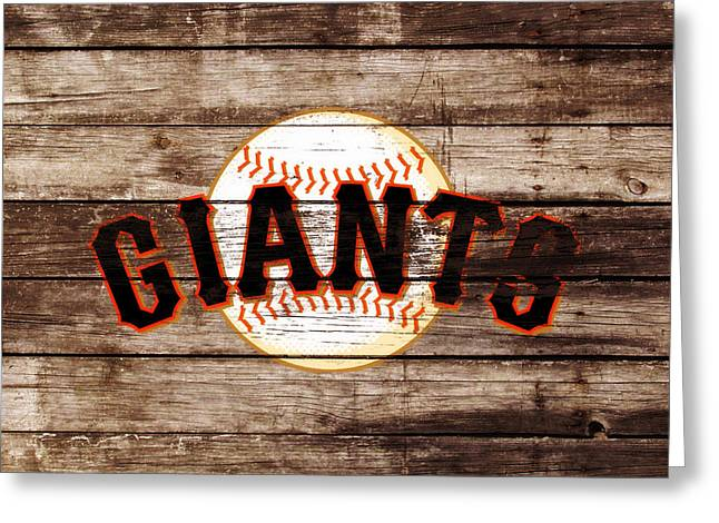 The San Francisco Giants 3e   Greeting Card
