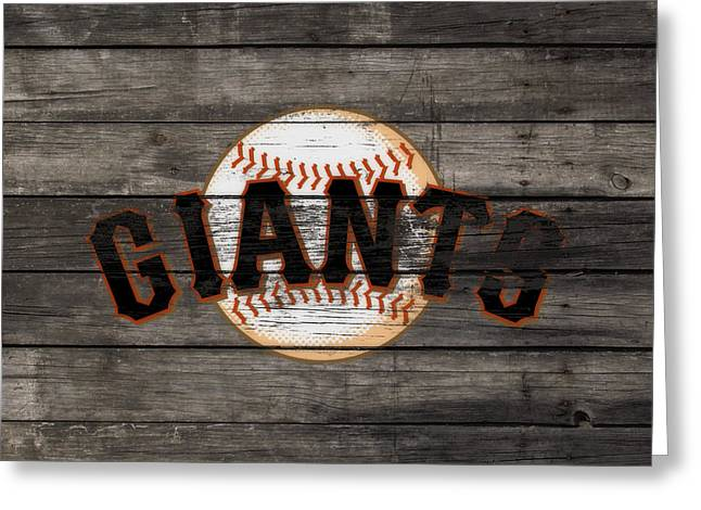 The San Francisco Giants 3f   Greeting Card by Brian Reaves