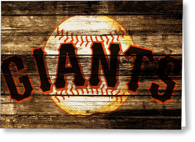 The San Francisco Giants 4a         Greeting Card by Brian Reaves