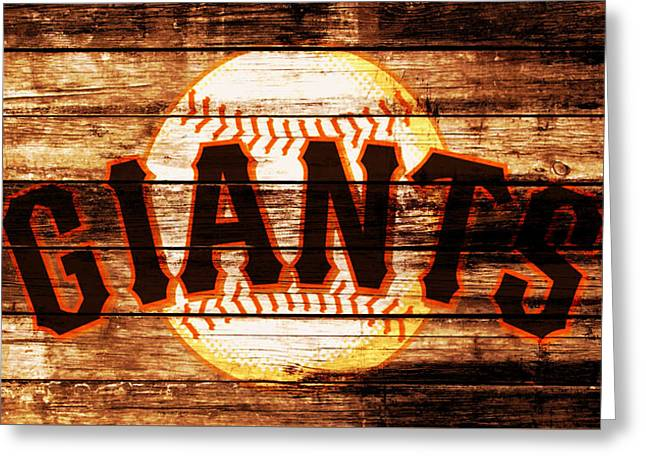 The San Francisco Giants 4b         Greeting Card by Brian Reaves
