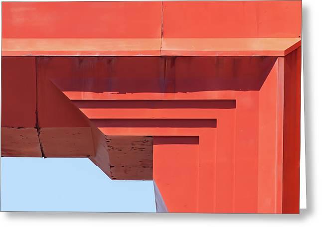 The San Francisco Golden Gate Bridge 5d2990sq Greeting Card