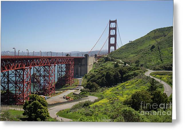 The San Francisco Golden Gate Bridge Dsc6139 Greeting Card