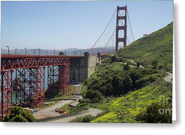 The San Francisco Golden Gate Bridge Dsc6139long Greeting Card
