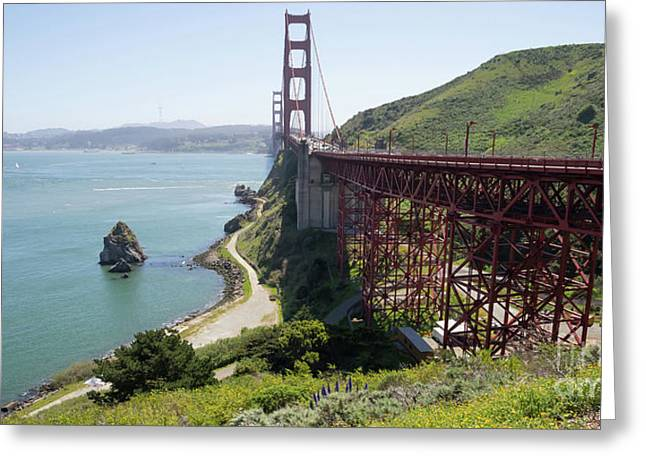 The San Francisco Golden Gate Bridge Dsc6146long Greeting Card