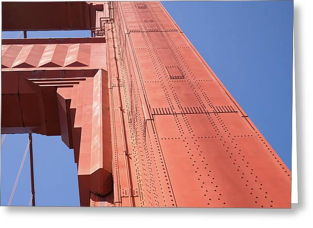 The San Francisco Golden Gate Bridge Dsc6189sq Greeting Card