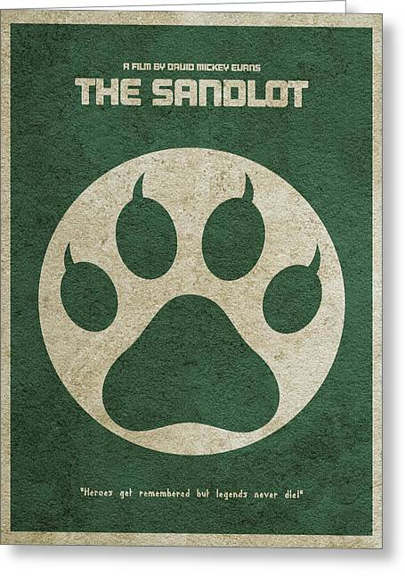 The Sandlot Alternative Minimalist Movie Poster Greeting Card by Ayse Deniz