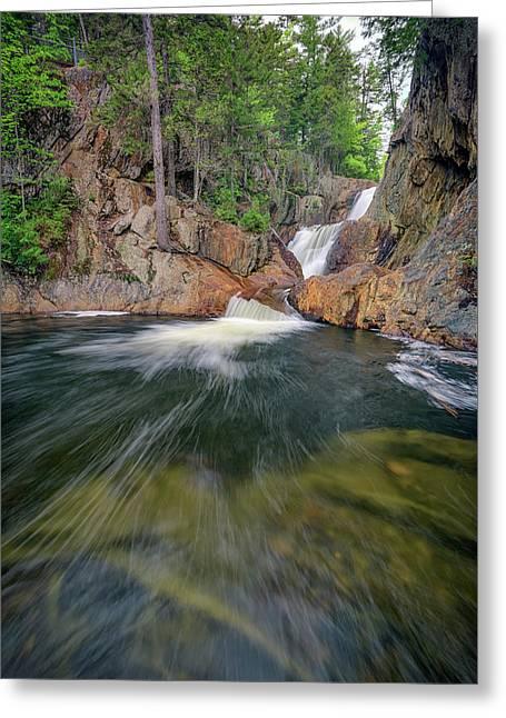 The Sandy River At Smalls Falls Greeting Card